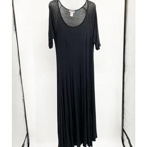 Canari 1/2 Sleeve Scoop Maxi Dress L 1119